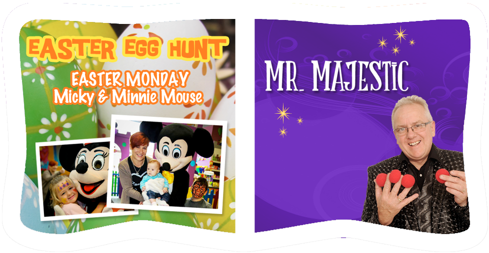 Easter Egg Hunt & Mr. Majestic at Dizzy Rascals, Letterkenny, Donegal